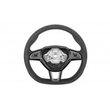 OEM Skoda Three-spoke sports steering wheel Alcantara DSG multifunctional