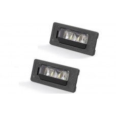 OEM Skoda LED License Plate Light SET