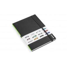 Notebook with Škodajis car motives