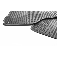 Set of rubber foot mats for Octavia II RHD
