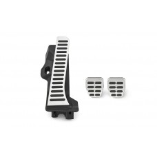 Stainless-steel foot pedal covers for RHD Octavia II