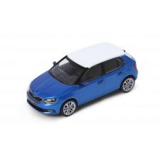 i-SCALE Skoda Fabia III 1:43 Race Blue with White roof