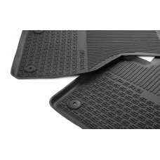 Skoda front + rear + tunnel rubber foot mats Superb III